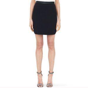 "Club Monaco ""Gretchen"" Leather Trim Skirt"